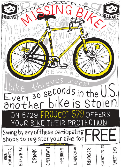 PDX bike registration day poster